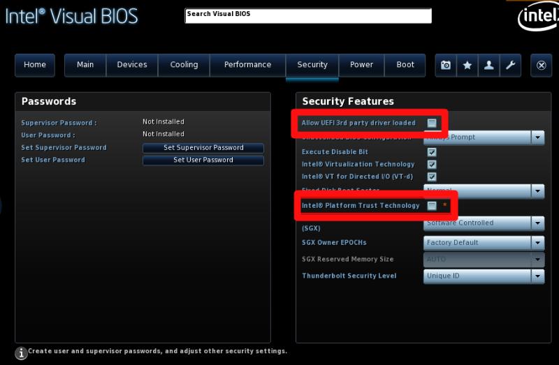 Stuck at Boot/Blank Screen with Lakka on Intel NUC 8i7BEH - Lakka