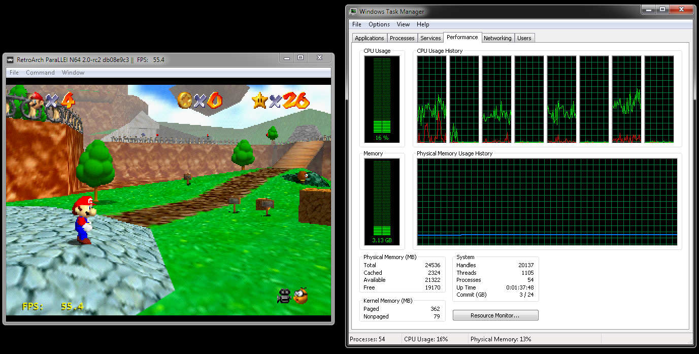Parallel64 + Angrylion Performance - Cores - Libretro Forums