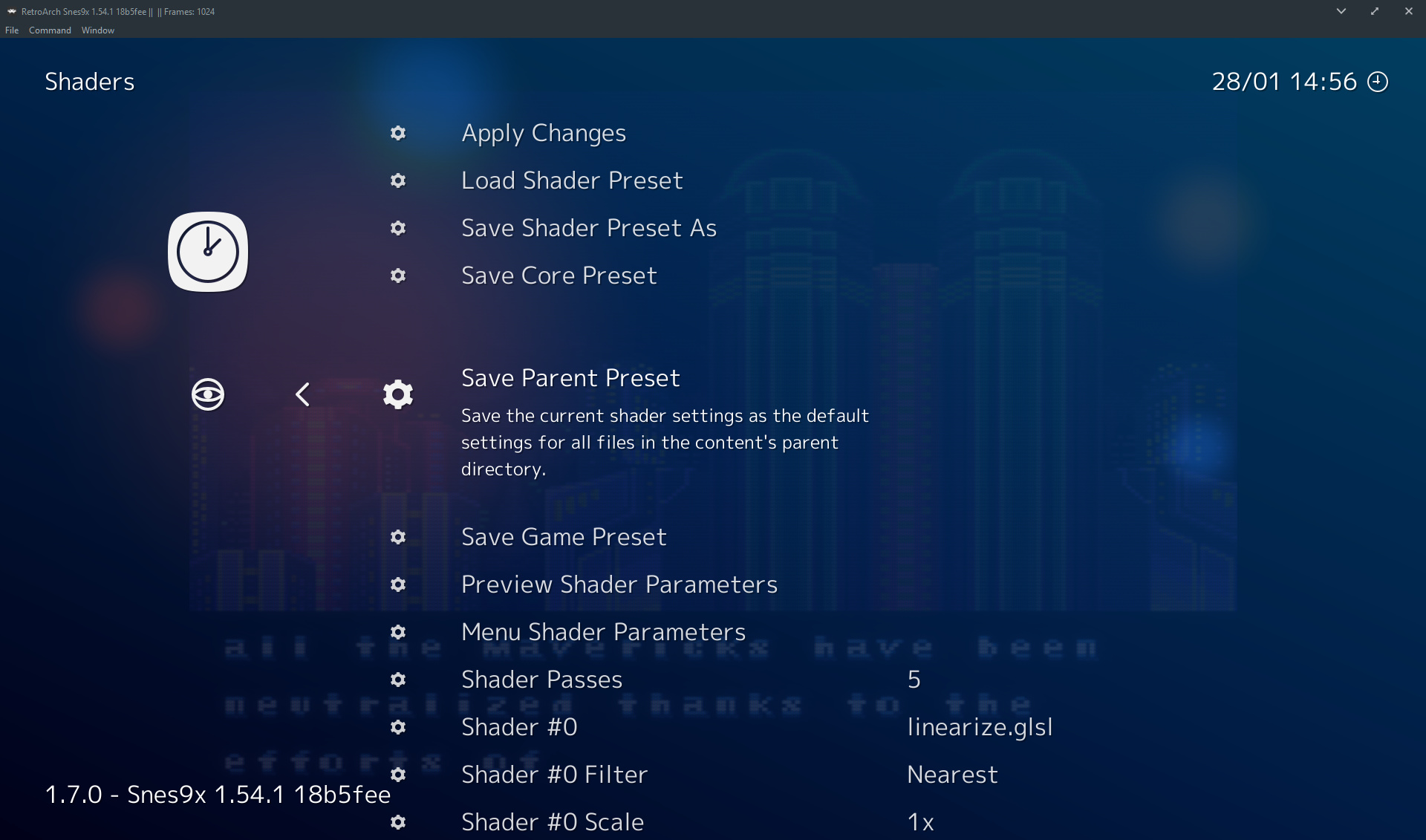 Override shader settings per-platform - Shaders - Libretro